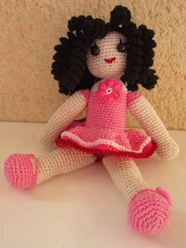 Bambola Alluncinetto Ricciolina